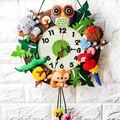 Набор детских декоративно-прикладного искусства, настенные часы, DIY искусство, ручная работа, декор для детского сада, творческие игрушки дл...