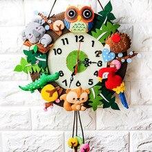 Crianças artes e artesanato conjunto relógio de parede diy arte material artesanal artesanato jardim de infância decoração criatividade artesanato brinquedos para meninas