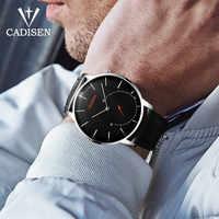 CADISEN-Reloj de marca de lujo para hombre, de cuarzo, ultrafino, curvo, de negocios, deportivo, resistente al agua