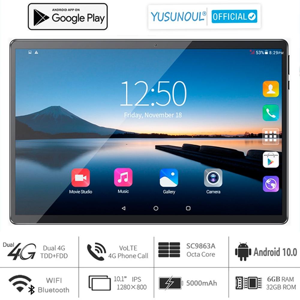2021 по выгодной цене с доставкой, 6G Ram, 10 дюймовый планшет, компьютер, 3G 4 аппарат не привязан к оператору сотовой связи 1280*800 HD Android 10,0 пирог OS 8 я...