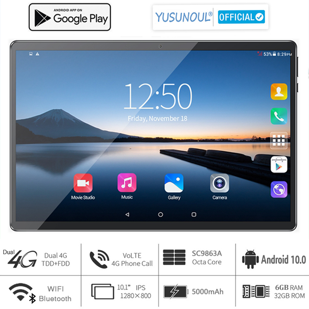 2021 Sales 6G Ram 10 inch Tablet pc 3G 4G LTE 1280*800 HD Android 10.0 Pie OS 8 Core Dual cameras телефонная панель для звонков