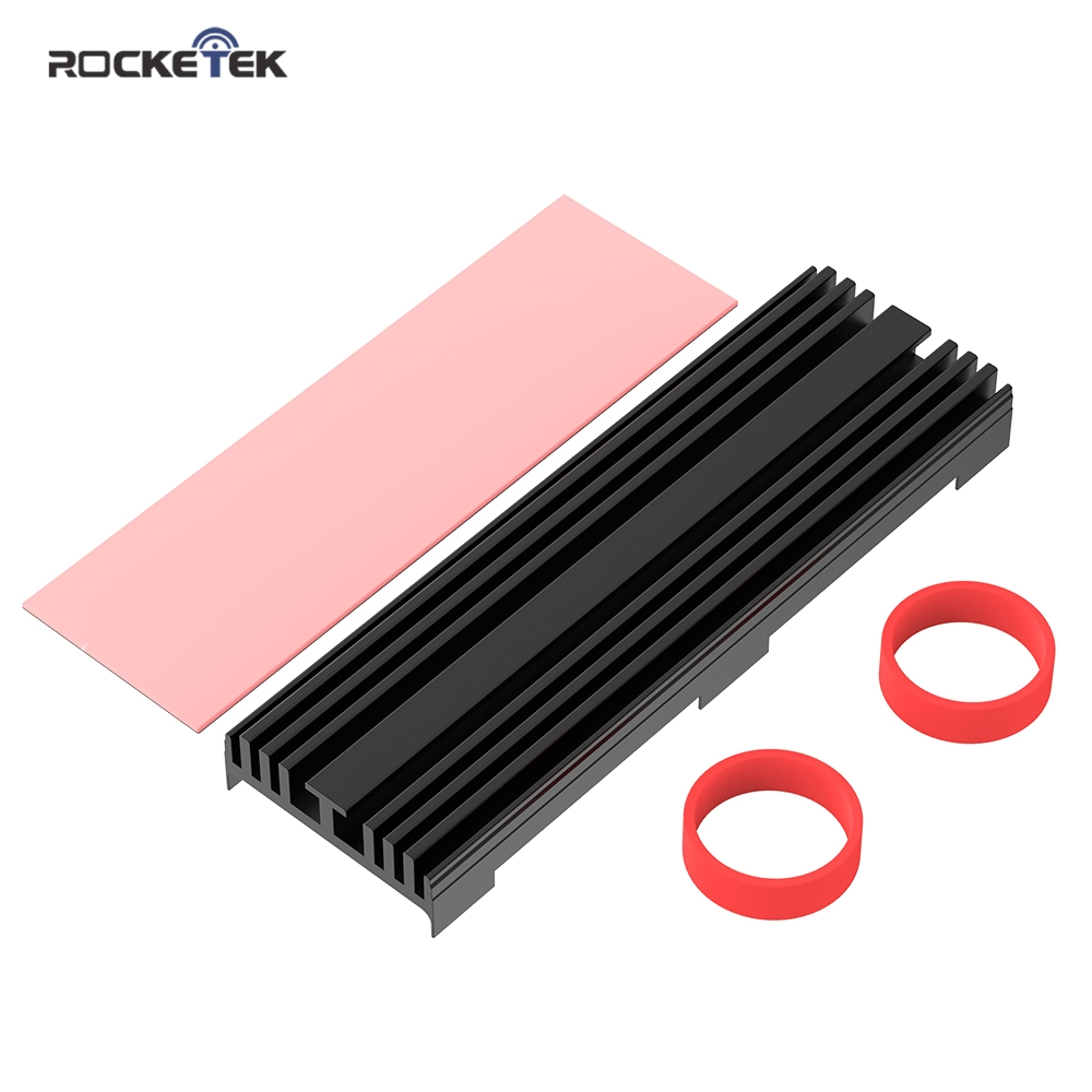 Rocketek M.2 Solid State Hard Disk Heatsink Heat Radiator Cooling Silicon Therma Pads Cooler for M2 NVME SATA NGFF 2280 PCIE SSD(China)