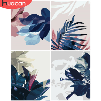 HUACAN DIY Pictures By Number Flower Kits Drawing On Canvas Hand Painted Picture Art Painting By Numbers Gift Home Decor