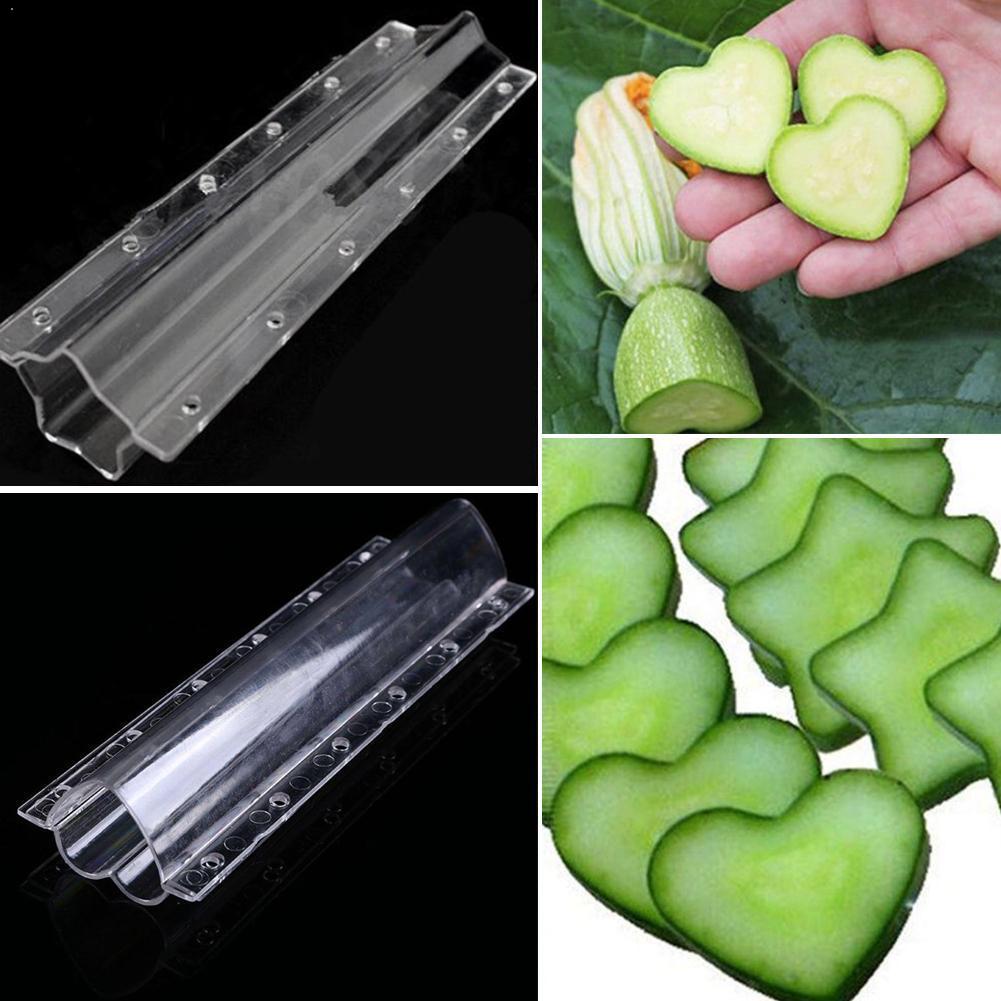 1 шт чистое в форме сердца огурец роста Формирование пресс-форм прозрачный сад для фруктов и овощей для формовки пресс-форм Кухня инструмент