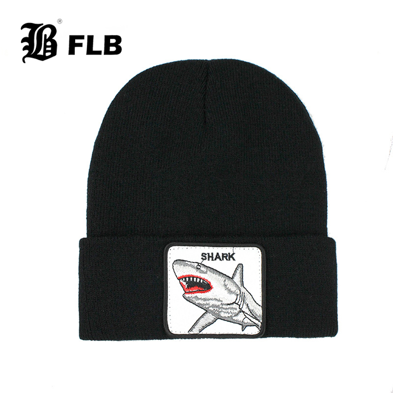 [FLB] New Animal Beanie Hat Women Winter Warm Knitting Hats For Men Hip Hop Caps Skullies Cap Bonnet Hat