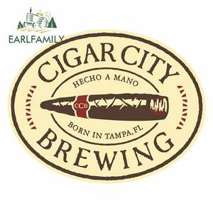 EARLFAMILY 13cm x 10.1cm for Cigar City Brewing Camper Truck Decal Car Accessories Bumper Decoration Funny Window Car Stickers