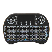 2.4G Mini Backlit Wireless Touchpad Keyboard Air Mouse For PC Pad Android TV Box vontar 2 4ghz h1 plus wireless air mouse mini keyboard remote control standard or backlit full touchpad for pc android tv box