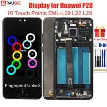 LCD Display für Huawei P20 EML-L09 L22 L29 Lcd mit Rahmen 10 Punkte Touch Screen Ersatz für Huawei P 20 5,8 zoll lcd-bildschirm