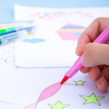 watercolor Art Markers Sketch Pen FineLiner Dual Tip Brush Pens Drawing Manga art Marker Pens School Supplies