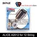 Струны для акустической гитары Alice A2012, 12 струн, 010-026, аксессуары для музыкальных инструментов, 12 струн для гитары, 1 комплект