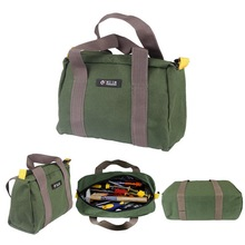 цена на Multi-function Canvas Waterproof Hand Tool Storage Bag Portable Toolkit Screwdrivers Pliers Metal Hardware Parts Organizer Pouch