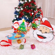 Lovely Santa Claus Candy Gift Box Party Supplies Merry Christmas Tree Present Packing Decoration Bags Gifts For Kids