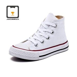 Image 5 - Çocuklar için kanvas ayakkabılar kız erkek çocuk ayakkabı botları beyaz siyah turuncu pembe yeşil kırmızı mavi
