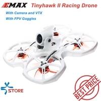 EMAX Tinyhawk II 75mm 1-2S Whoop Dron de carreras con visión en primera persona Quadcopter RC BNF RTF w/ FrSky D8 Runcam 2 Cam Cámara 25/100/200mw VTX CES juguete