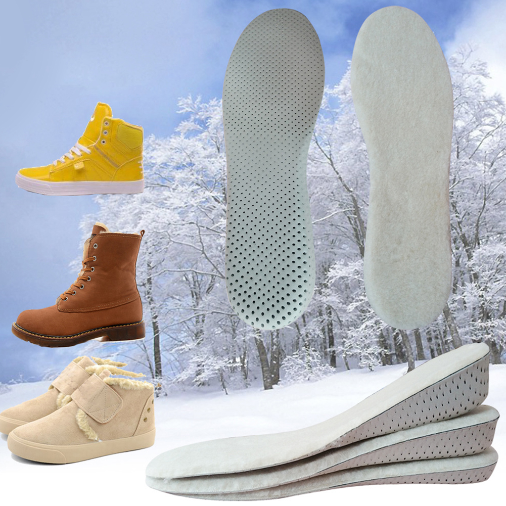 1 Pair Insole Accessories Support Cushion Height Increase Inserts Artificial Wool Invisible Absorb Sweat Winter Keep Warm Pads