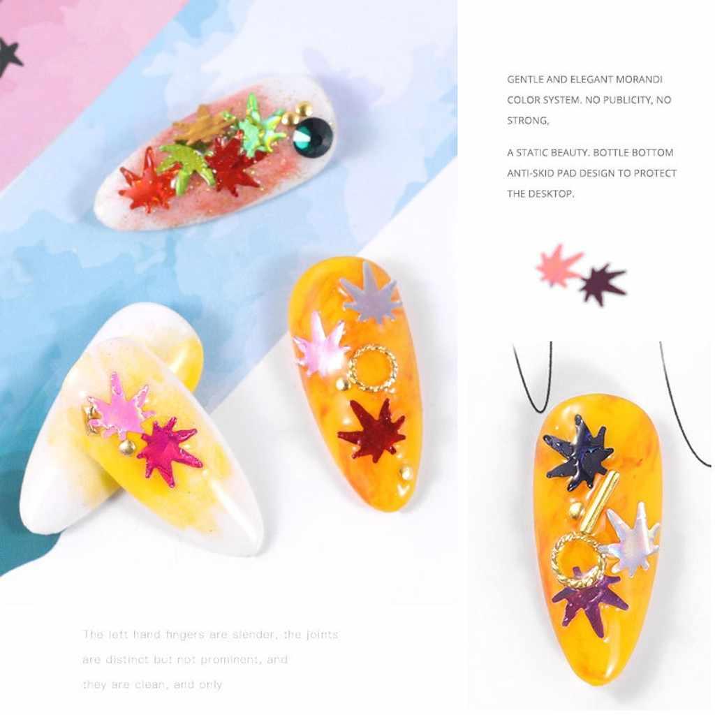 12 коробок, осенний дизайн, кленовый лист, Блестящие Блестки для ногтей, блестки для рождественских ногтей, художественные наклейки, чешуйчатая аппликация, обертывания, украшения 1021