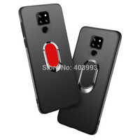 For Cubot P30 Soft Case For Cubot P30 Cover Finger Ring Magnet Matte Protector Coque On For Cubot P30 Case