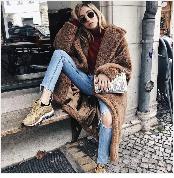 Autumn Winter Coat Women 2019 Fashion Vintage Slim Double Breasted Jackets Female Elegant Long Warm White Coat casaco feminino 45