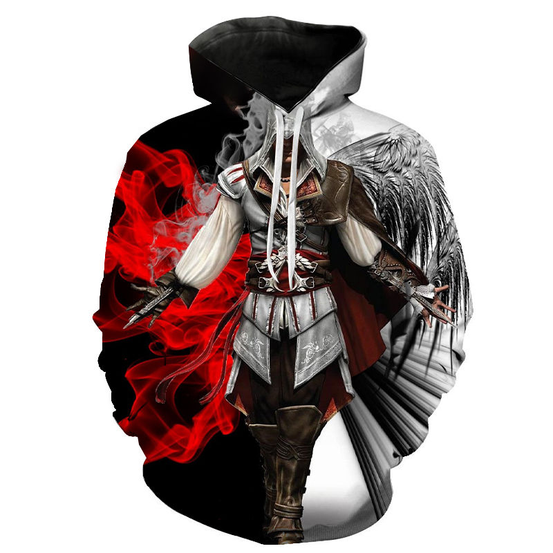 2020 New 3D Printed Assassin Creed Hoodies Men Women Children Casual Streetwear Cool Hooded Sweatshirt Fashion Funny Clothes