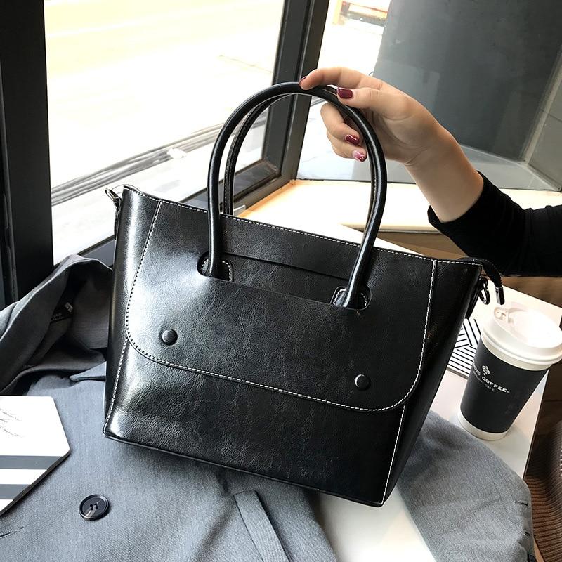 Cowhide Tote Bag Large Shoulder Bags for Women