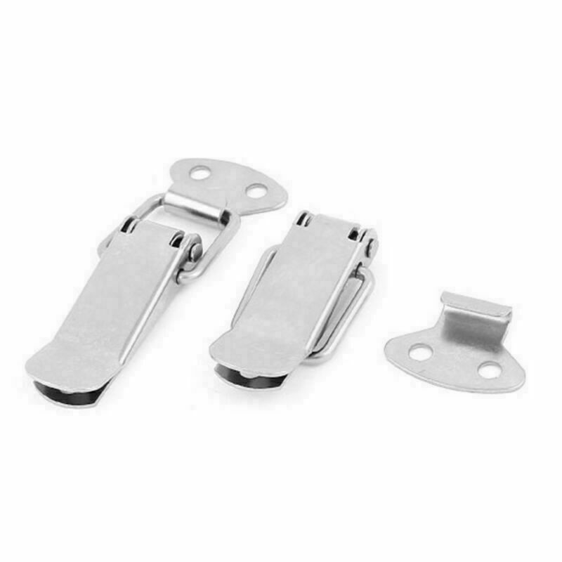 1Pc Cabinet Box Locks Spring Loaded Latch Catch Toggle 44x23mm Stainless Steel Hasps For Sliding Door Window Furniture Hardware