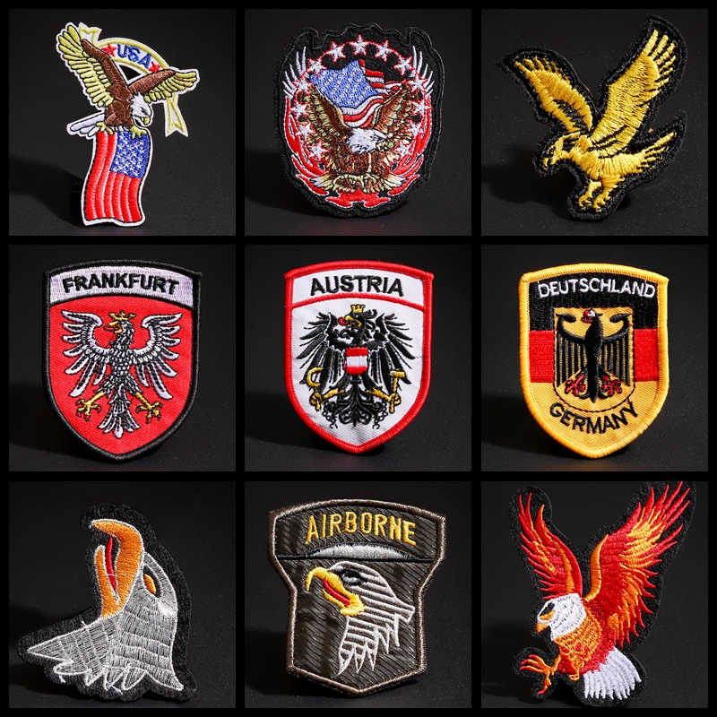 Eagle Embroidered Sew Iron On Patches Badge Fabric Clothes Applique Transfer DIY