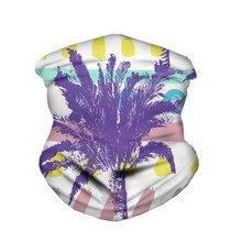Neck Scarf Floral Leaf Print Balaclava Magic Half Face Mask Shield Headband Headwear Bandanas For Ladies Foulard