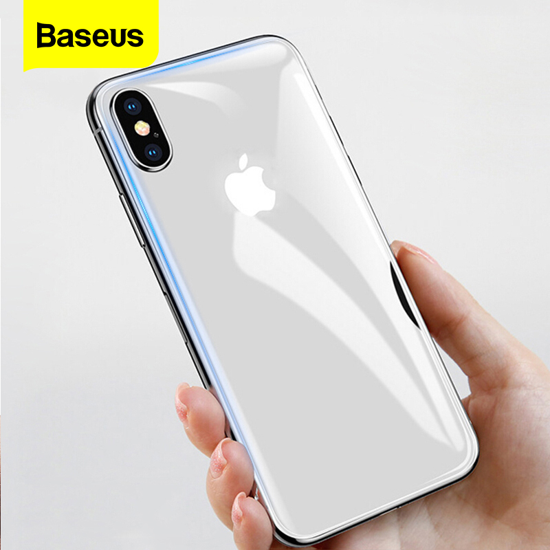 Baseus Transparent Back Screen Protector For IPhone Xs Max Xr X S R Xsmax Tempered Glass Rear Protective Glass Film For IPhoneXs