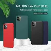 Pour Apple iphone 11 XR étui NILLKIN Flex pur étui mince souple Silicone liquide antichoc coque de téléphone pour iphone XS 11 Pro MAX