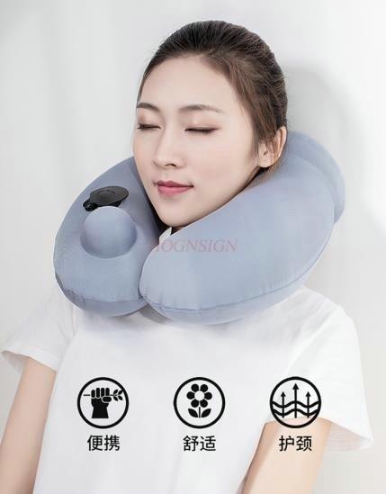 pillow orthopedic collar Travel press inflatable u-shaped pillow cervical pillow u-shaped pillow neck aircraft sleeping portable