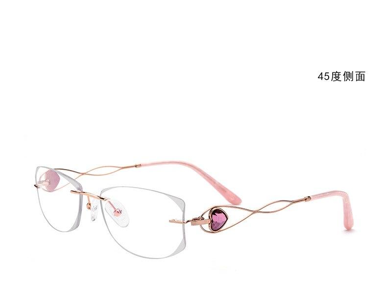 Belight optique titane corée luxe diamant côté ferraille femmes sans monture Ultra léger lunettes cadre Prescription lunettes 0923
