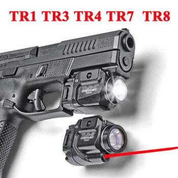 Tactical TLR Fullsize LED Weapon Light With Red Laser Sight For Pistol Hunting Glock 17 19 3 4 8  SIG CZ Laser Flashlight