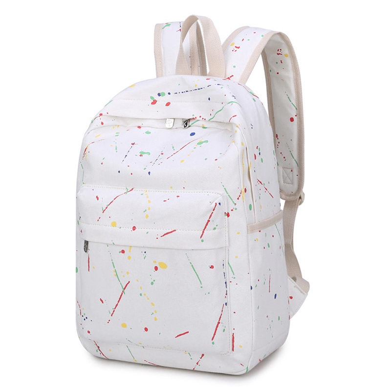 BEAU-New Teenager School Backpacks For Girls Boys Adolescence Student Backpack Female Notebook Oxford White Back Pack