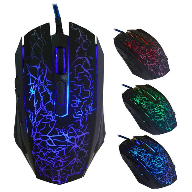 3 фонаря игровая мышь 4000DPI цветная подсветка Оптическая Проводная игровая мышь 6 кнопок мышь геймер мышь игровая в наличии