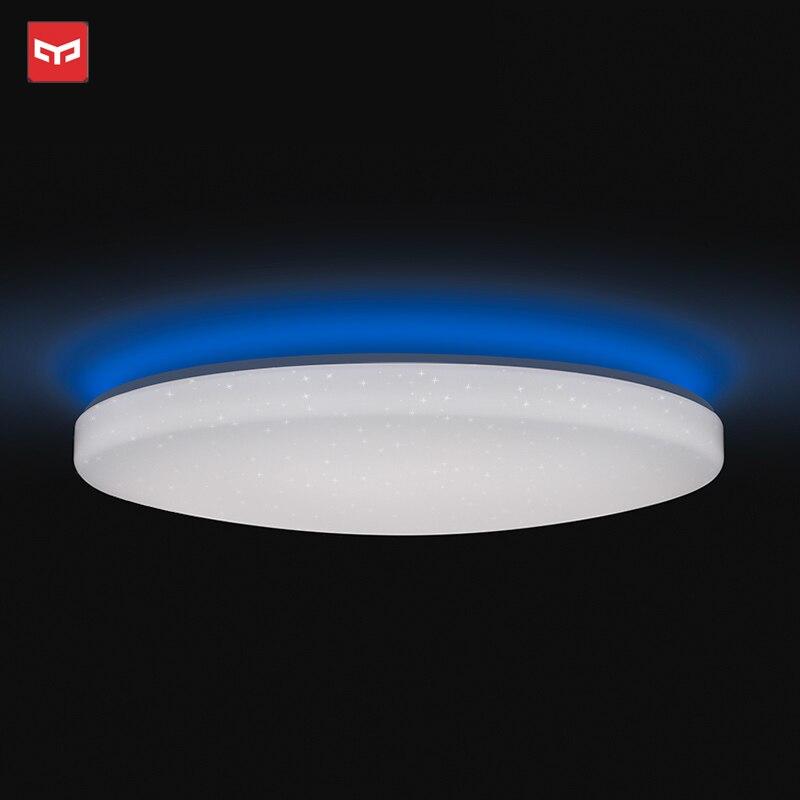 2019 nova original xiao mi yeelight inteligente luz de teto lâmpada controle remoto mi app wifi bluetooth inteligente led cor ip60 dustproof - 6