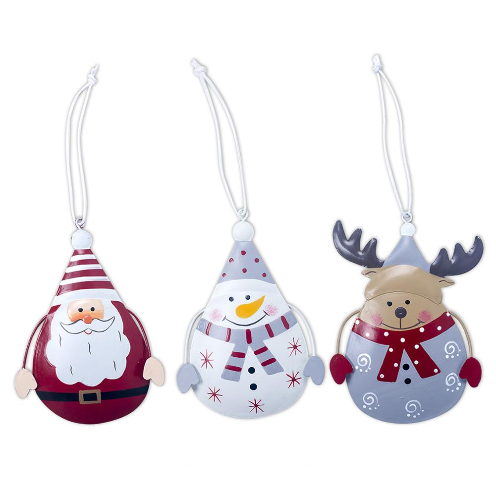 1pcs Innovative Iron Christmas Hanging Ornaments Snowman Elk Decoration For Christmas Trees Home Window