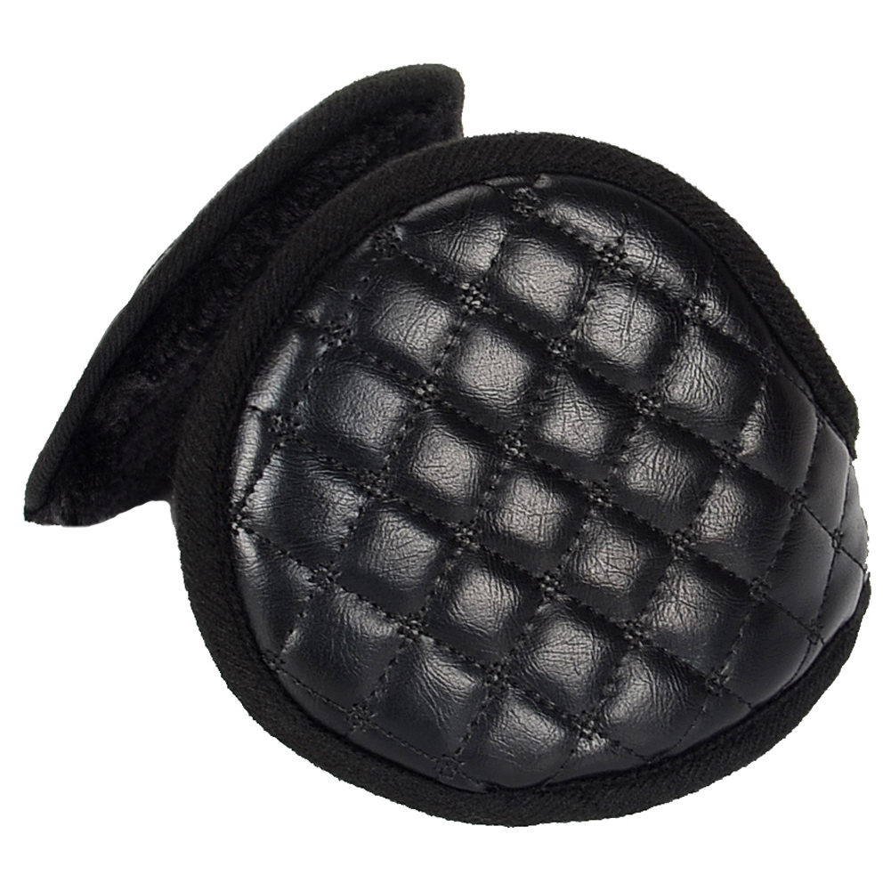 Men Adults Accessories Ear Muffs Winter Outdoor Solid Foldable Adjustable Cycling Cover Warmers Protection Plush Leather Sports