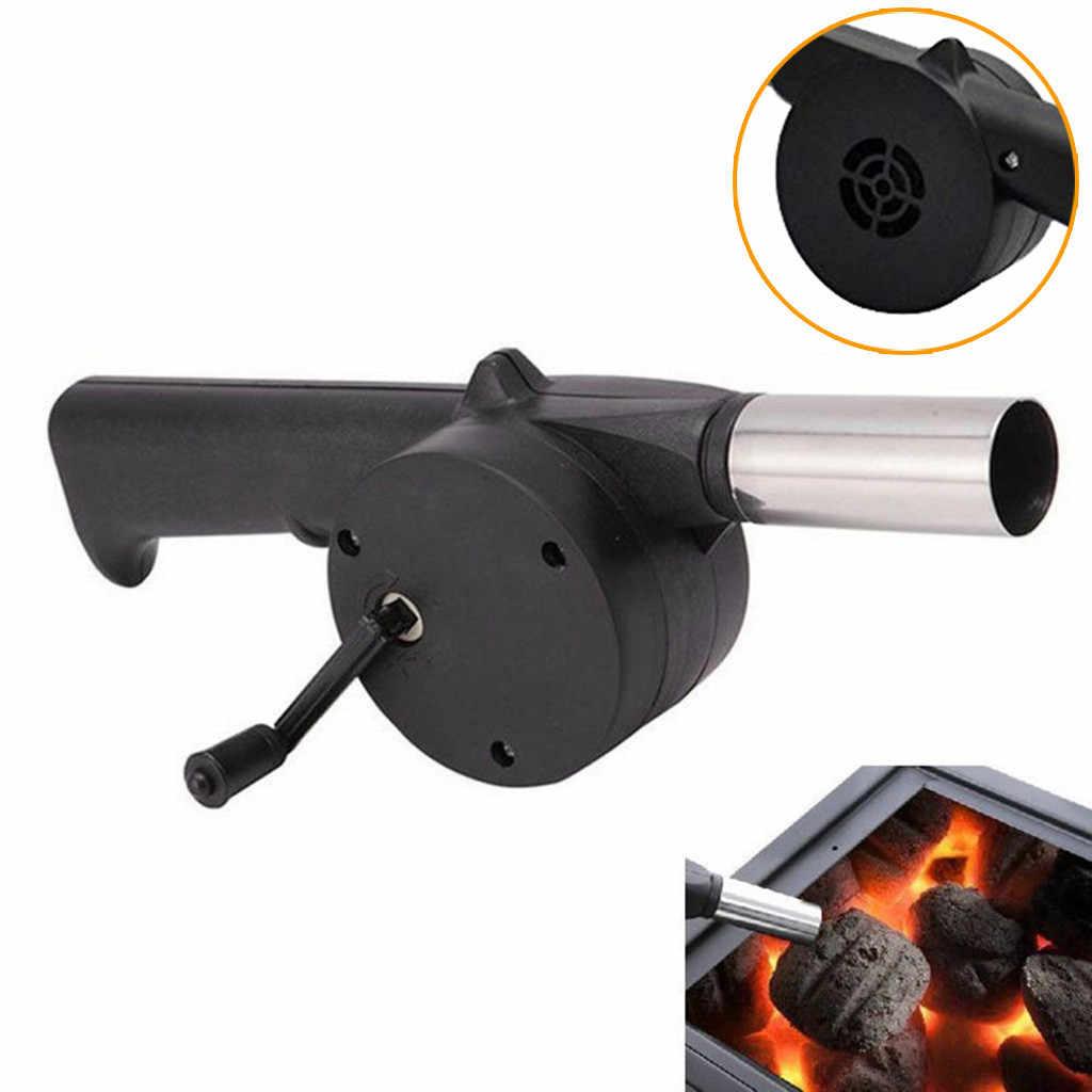 חיצוני כלי יד Crank מופעל מאוורר אוויר מפוח לפיקניק ברביקיו אש ציוד יד Crank מופעל אוויר מפוחים יד מנגל