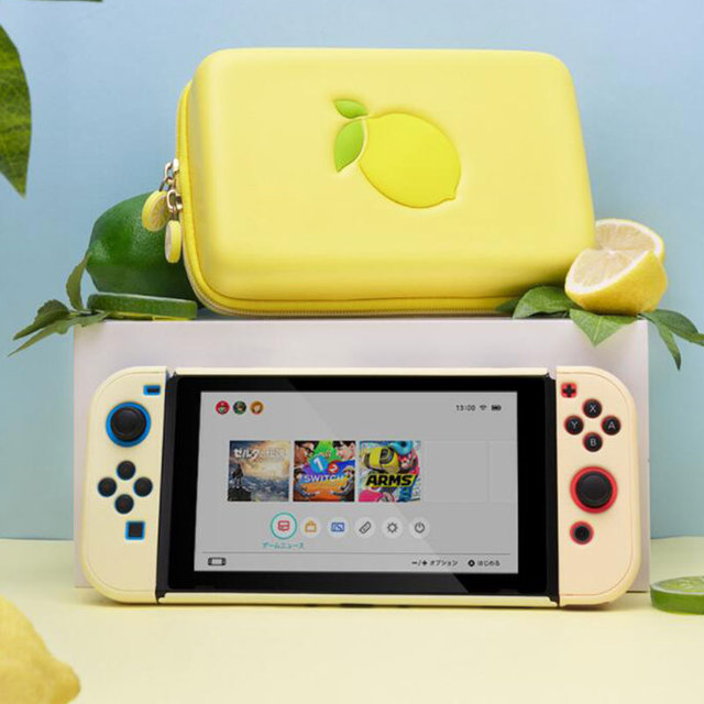 Portable Case Bag For Nintendo Switch Lemon Bag EVA Hard Cover Shell NS Storage Box For Nintend Switch Game Console Accessories