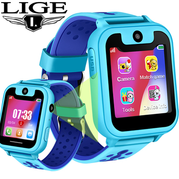LIGE Children Smart Watch Baby Watch LBS Position Tracker SOS Emergency Phone Call Girl Boy Kids Smart Watch Support SIM Card smart children watch sport style smart watch for children tracker sos call sleep tracker smart watch for huawei xiaomi samsung