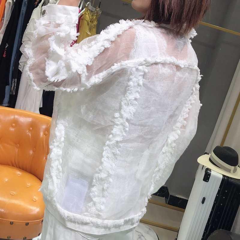 Realshe ผู้หญิง DENIM แจ็คเก็ตแขนยาวปุ่มกระเป๋า Tassel DENIM แจ็คเก็ตหญิงฤดูใบไม้ผลิฤดูใบไม้ร่วงเสื้อลำลองกางเกงยีนส์ผู้หญิง