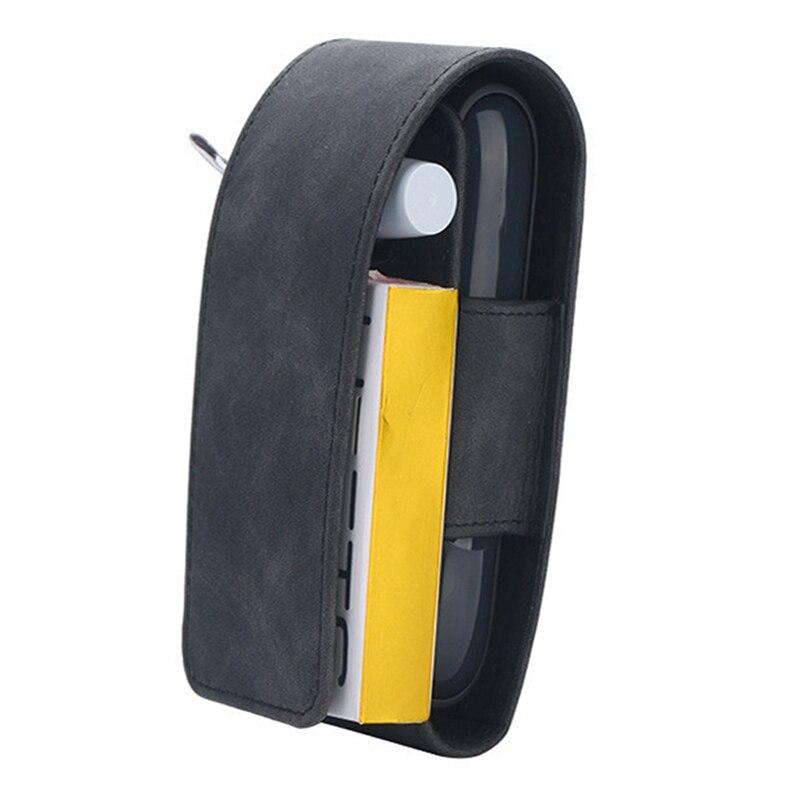 Чехол для IQOS 3,0 из искусственной кожи держатель для электронных сигарет чехол для переноски Набор DIY сумка для хранения полная защитная сумка - Цвет: BK