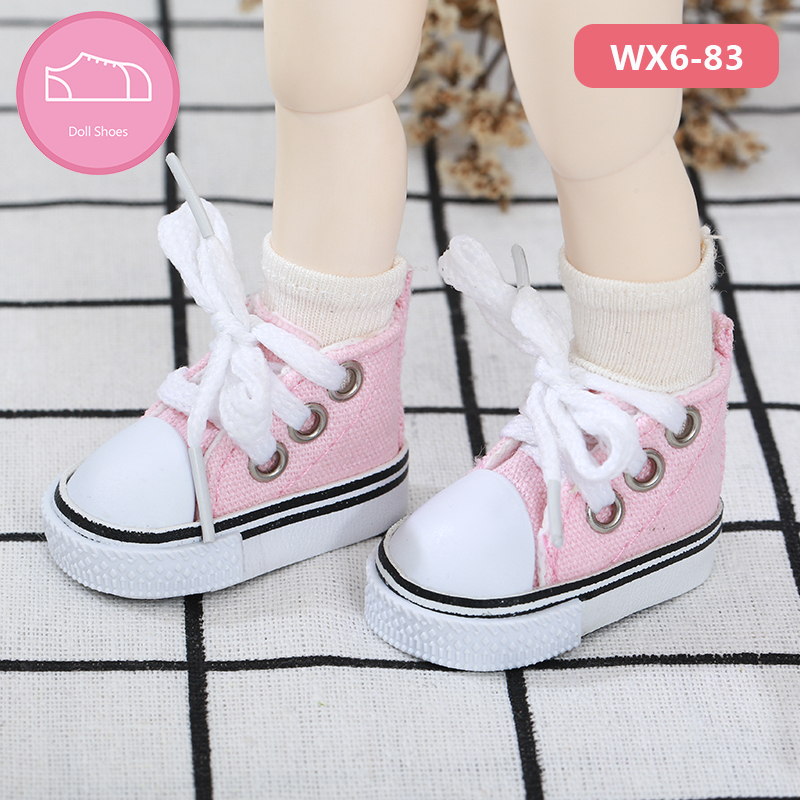 BJD Shoes 1/6  Casual High-top Canvas Shoes YOSD Littlefee Body Doll Accessories
