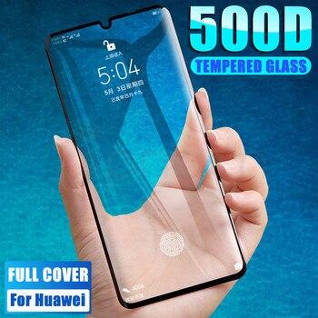 Перейти на Алиэкспресс и купить Защитное стекло 500D для Huawei P30 Pro Lite, Huawei Nova 6 SE 5 5i 5T Nova 4 4E 3 3i 3E, закаленное стекло для защиты экрана, защитная пленка