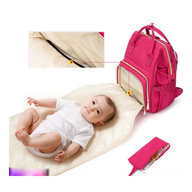 Baby Diaper Bag with USB Baby Nappy Changing Bag Mummy Maternity Travel Backpack Mom Nursing Bags Waterproof Heat Preservation image