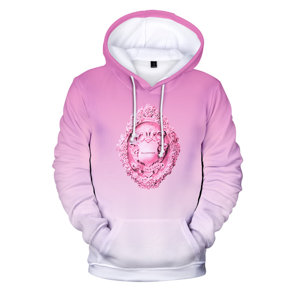 Blackpink 3D New Style Fashion Hoodies Women Exclusive Casual Hooded Sweatshirts 3D Popular Korea Team Streetwear Hoodies