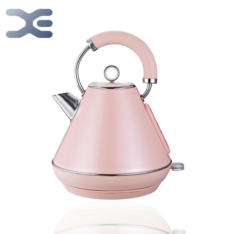 220V Retro Electric Kettle Stainless Steel 1.8L  1800W Detachable Mesh Filte British Strix Thermostat BPA-Free Electric Teapot