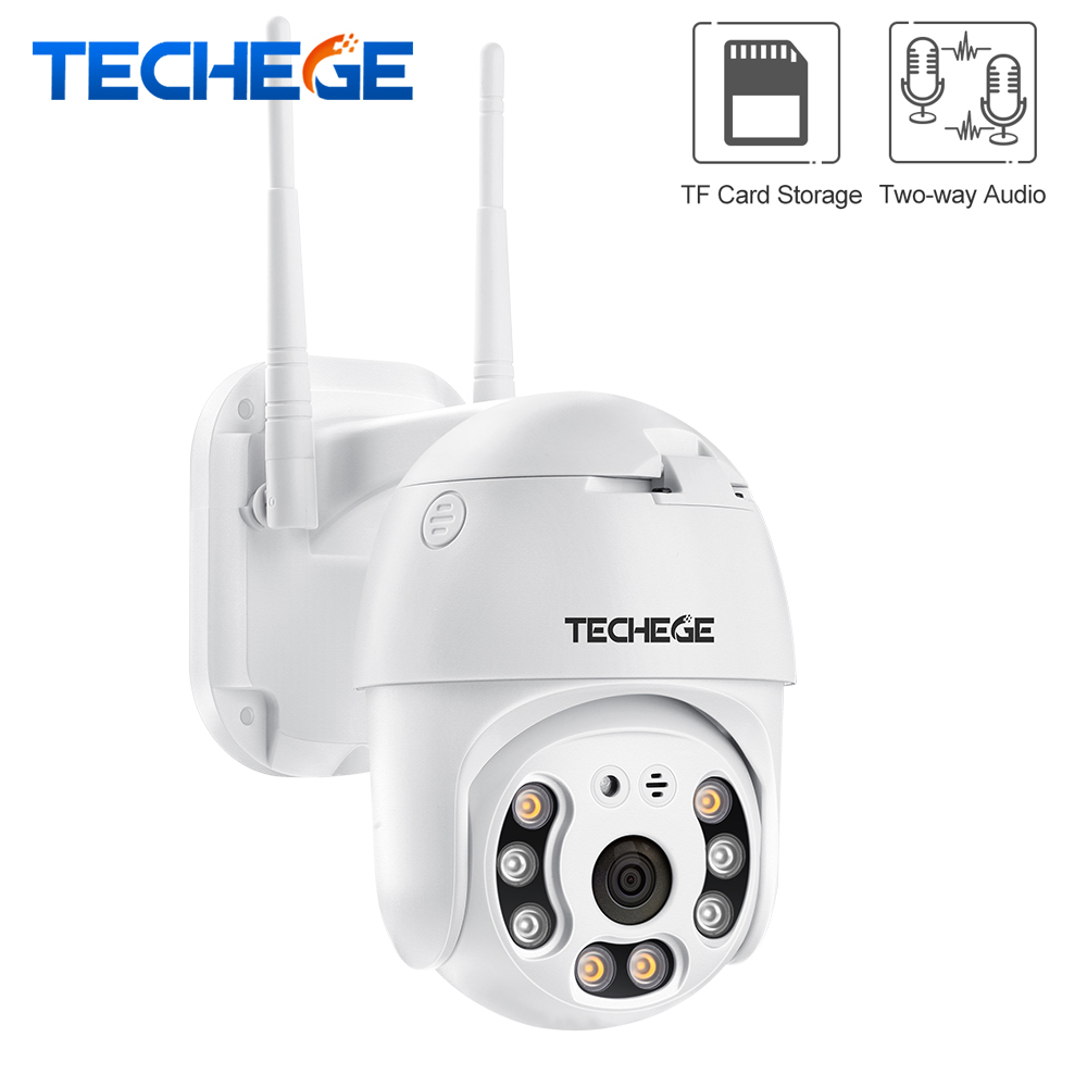 Techege H.265 1080P Wifi Camera 2MP PTZ Camera Speed Dome ONVIF Outdoor Wireless Camera Two Way Audio Home Surveillance Camera