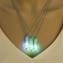 2 New Luminous Stone Necklace  Glow Bottle Pendant Necklace Plated Necklace Silver Jewelry Hot Sale 2019 necklace 2
