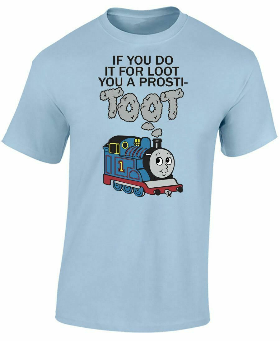 Do It For Loot Mens Tops Tee T Shirt Funny Train track <font><b>parody</b></font> <font><b>tshirt</b></font> Plus Size T-Shirt image
